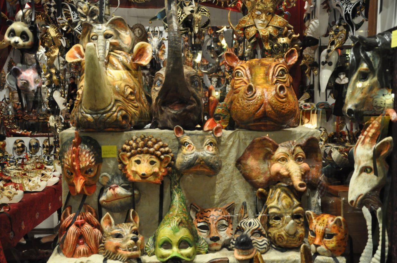Venezianische Masken einkaufen in Venedig