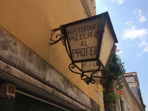 Restaurants in Venedig Pizzeria mit Garten Al Profeta